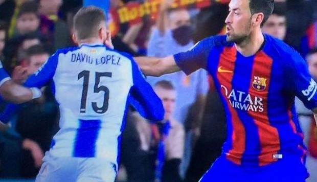 Barcelona: Busquets agredió a rival y no fue amonestado [VIDEO]