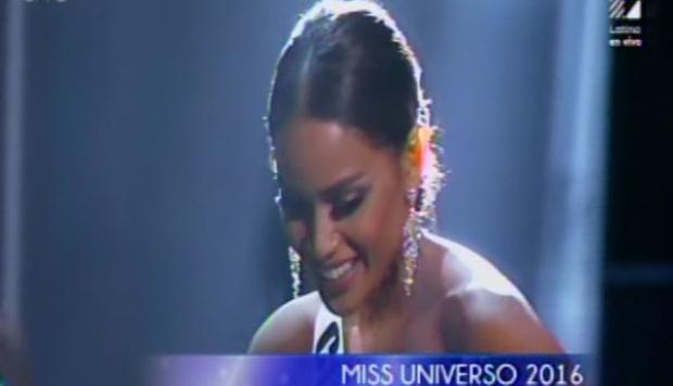 Miss Colombia, Andrea Tovar, ofuscada tras perder Miss Universo