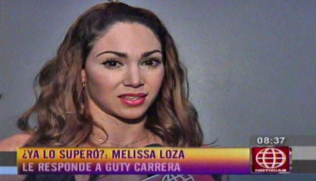 Melissa Loza: No me vinculen más con Guty Carrera (VIDEO)