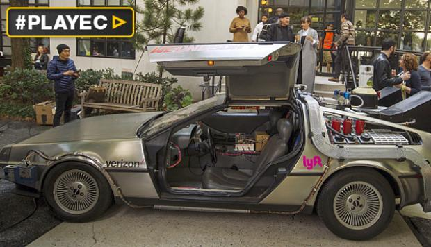 El auto de Marty McFly llega al futuro en Chile [VIDEO]