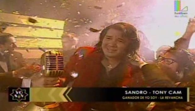 Yo soy: 'Sandro' ganó la gran final [VIDEO]