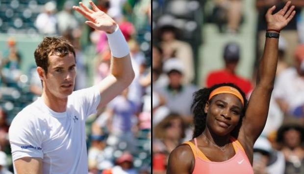 Andy Murray y Serena Williams avanzaron en el Masters de Miami