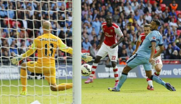 Mira los goles del Arsenal ante el City en la Community Shield