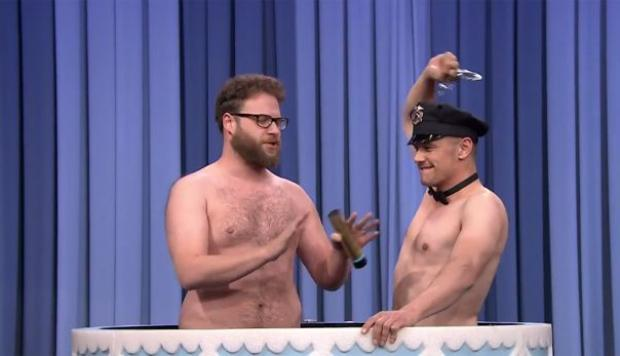 James Franco y Seth Rogen se desnudaron por Jimmy Fallon