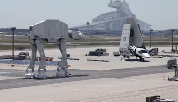 Transforman aeropuerto de Alemania en base de Star Wars