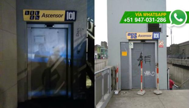 WhatsApp: ascensor de Metropolitano no funciona