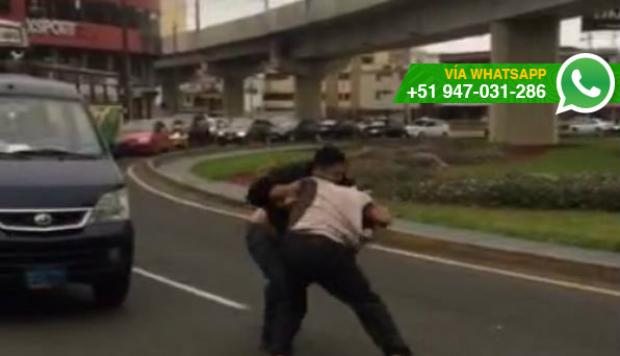 WhatsApp: pelea entre barristas interrumpe el tránsito (VIDEO)