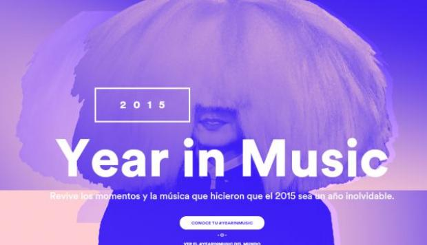 Spotify te muestra tu año musical con Year in Music