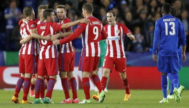 ¡Atlético Madrid a semifinales! Igualó 1-1 ante Leicester City