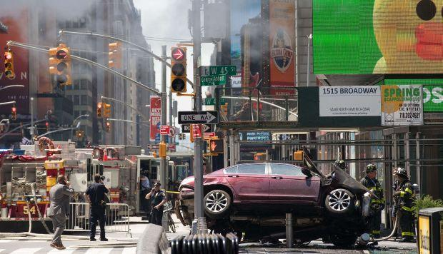 El impactante video del accidente del auto de Times Square