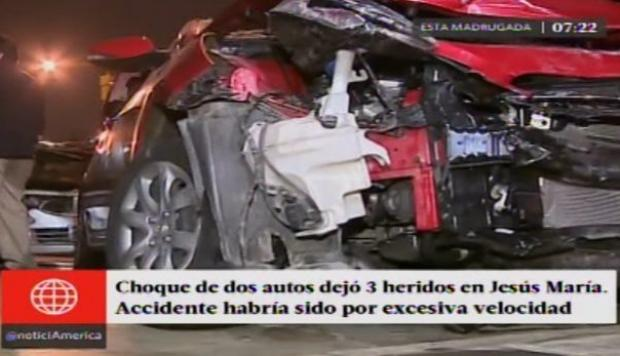 Accidente en Jesús María
