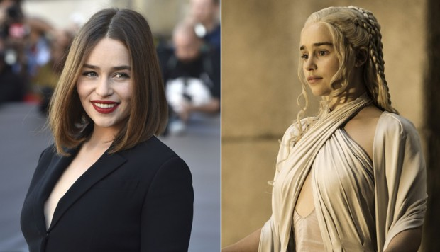 Emilia Clarke se tiñó el cabello como Daenerys de Game of Thrones