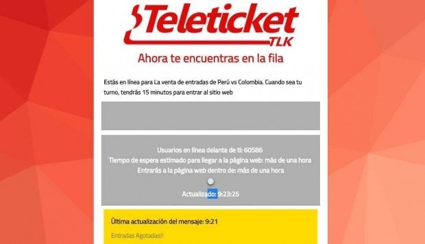 Teleticket, Indecopi, Aspec, Perú vs. Colombia,