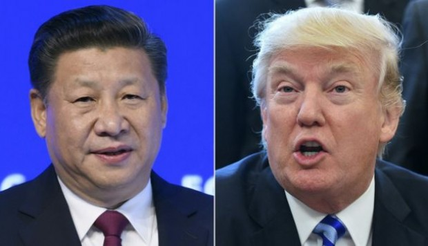 Xi Jinping presidente de China, recibe a Donald Trump
