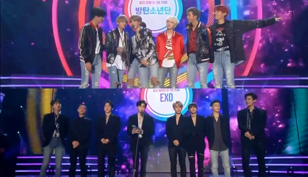 BTS y EXO ganan en MelOn Awards