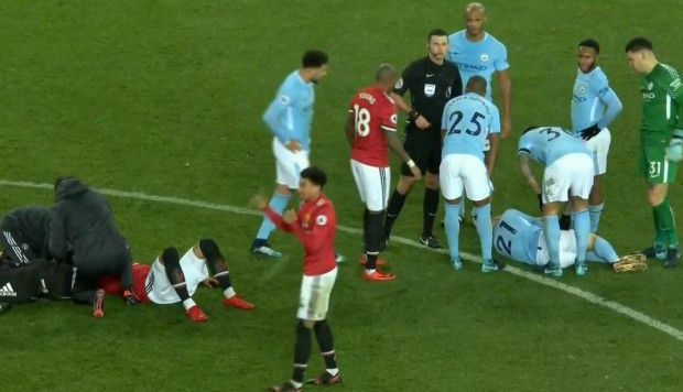 United vs. City y el impactante choque de cabezas entre Rojo y Silva