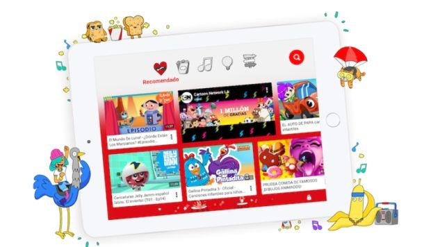 Los niños pueden disfrutar de videos exclusivos en YouTube Kids. (Foto: YouTube Kids)