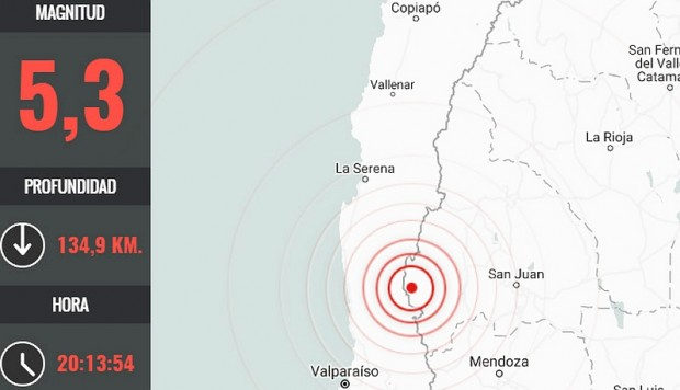 Temblor se registró en la zona central
