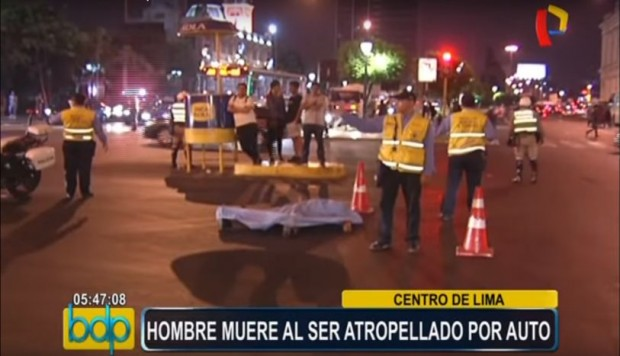 Cercado de Lima,Accidente de tránsito,Atropello,Paseo Colón,