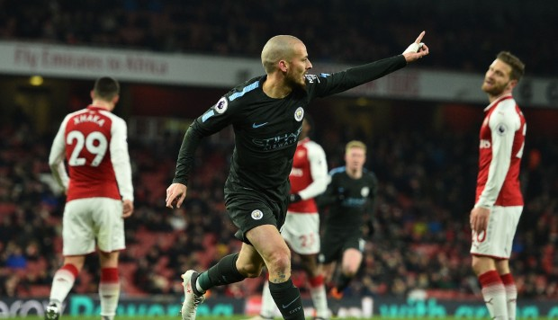 Image result for Manchester City 3-0 Arsenal in Premier League