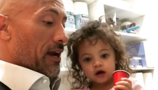 Instagram: Dwayne Johnson logra 17 millones de vistas con tierno video junto a hija