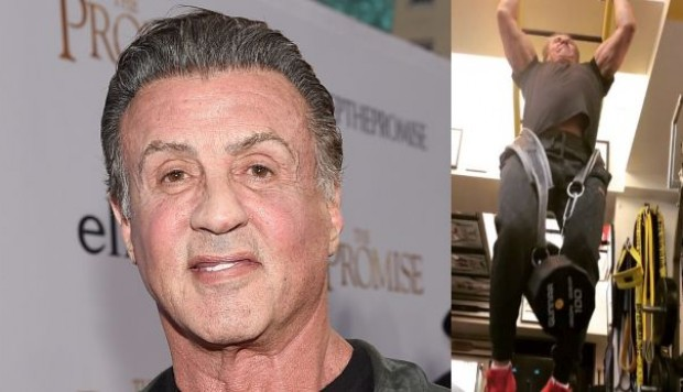 Sylvester Stallone hace