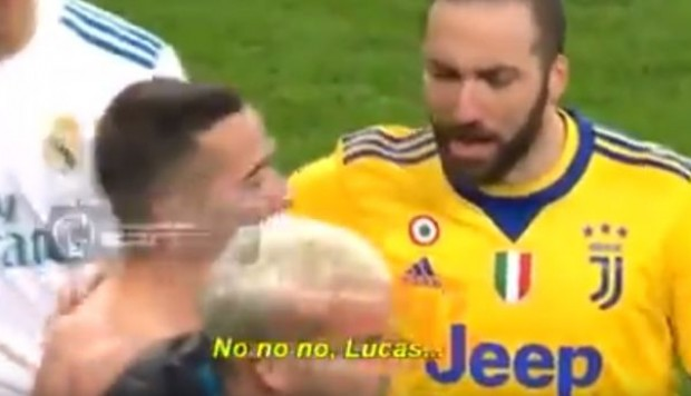YouTube: Gonzalo Higuaín increpa a Lucas Vásquez en video tras polémico pase del Madrid