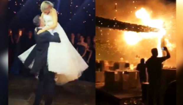 YouTube: Voraz incendio acaba con fiesta de bodas en México [VIDEO]