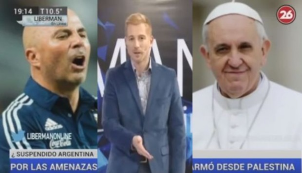 YouTube: el rumor sobre Sampaoli y el papa Francisco que indignó a Martín Liberman