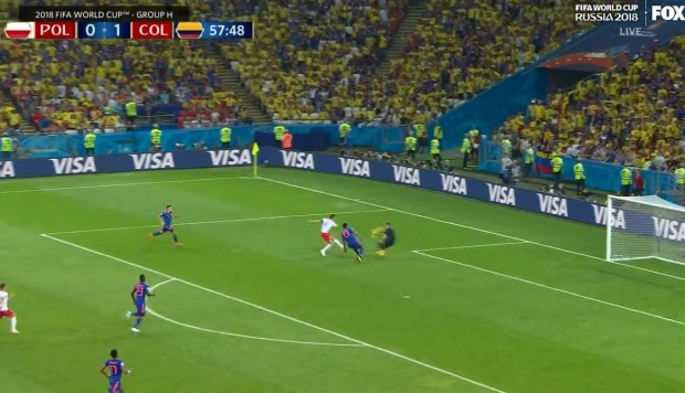 Colombia vs. Polonia: Ospina atajó remate de Lewandowski en partido del Mundial Rusia 2018. (Foto: Captura de video)