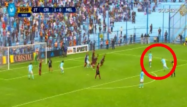 Sporting Cristal vs. Melgar: Herrera combinó con Costa y anotó el 2-0 para los celestes. (Foto: Captura de video)