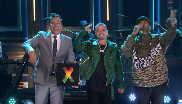 Jimmy Fallon, J Balvin y Nicky Jam. (Foto: YouTube)