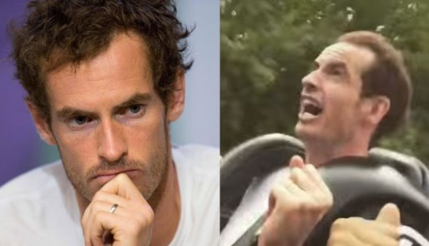 YouTube: Andy Murray y su gesto de pánico al subirse a montaña rusa gigante | VIDEO