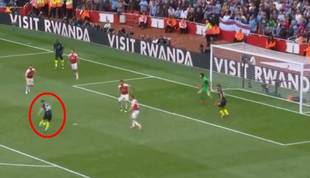 Manchester City vs. Arsenal: Bernardo Silva marcó golazo para el 2-0 de los citizens. (Foto: captura de video)