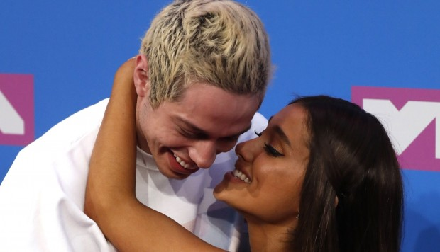 Ariana Grande y Pete Davidson en los MTV Video Music Awards 2018. (Foto: Agencias)