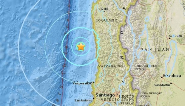 Sismo 4,8 Richter se registra en la zona central