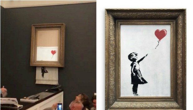 Girl with Balloon de Banksy