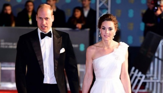 BAFTA 2019: Guillermo y Kate Middleton llegaron a la ceremonia