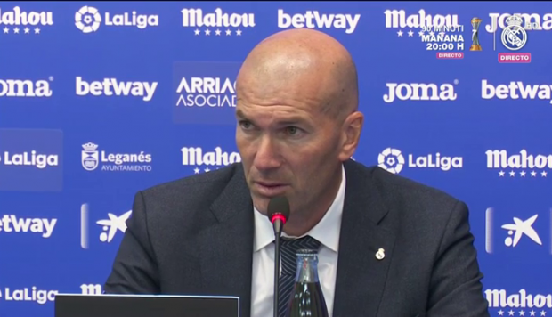 Zinedine Zidane compareciendo ante los medios de prensa. (Foto: captura de video)