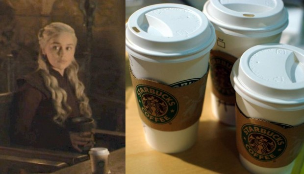 El episodio del domingo por la noche de Game of Throne expuso una taza de Starbucks.