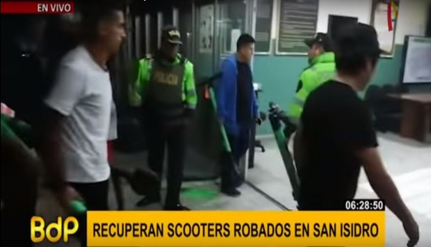 San Isidro: intervienen a recicladores al intentar a robar scootters eléctricos | VIDEO