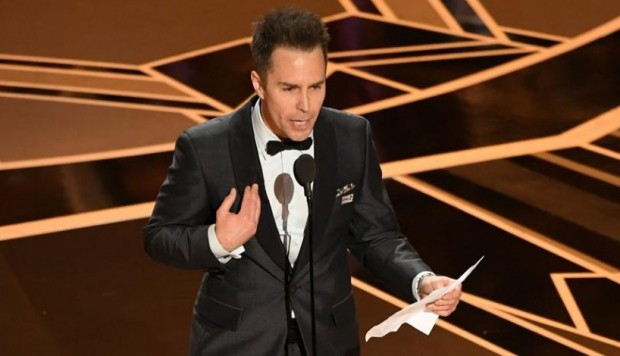 "Sam Rockwell, ganador del Oscar al mejor intérprete de reparto por ""Three Billboards Outside Ebbing, Missouri"" (2017)"