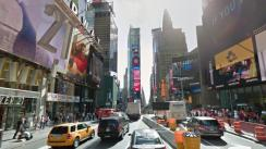 El punto del accidente de Times Square visto desde Google Maps