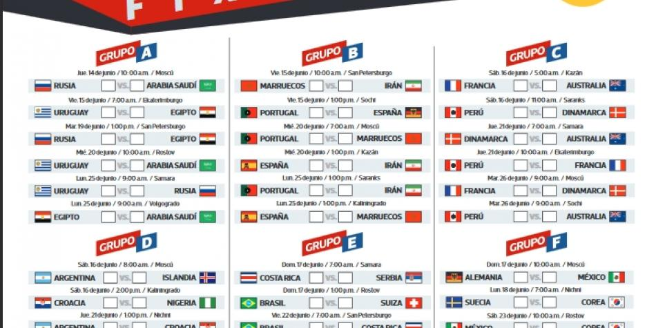 World Cup Matches Schedule Pdf