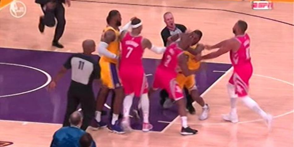 Los Ángeles Lakers vs. Houston Rockets: pelea entre Rajon Rondo y Chris Paul en la NBA