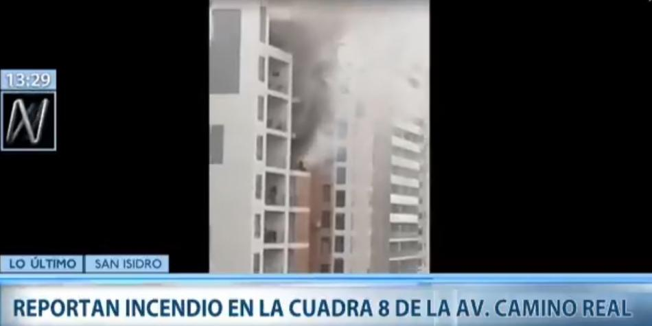 San Isidro: A fire was reported in the building of Av