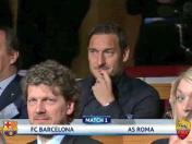 Cuartos de final de Champions League: la cara de Francesco Totti por el rival que le tocó a Roma | VIDEO