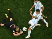 Argentina vs. Croacia: la repudiable reacción de Otamendi contra Rakitic