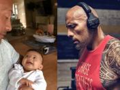 Dwayne Johnson le habla a su bebe en desconocida y tierna faceta | VIDEO