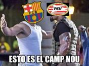 Facebook: Barcelona vs. PSV y los divertidos memes del partido por Champions League | FOTOS